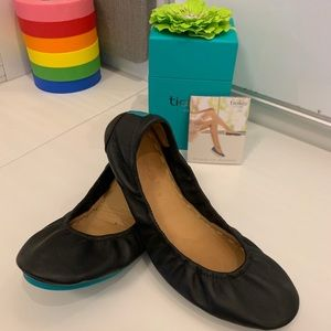 Tieks by Gavrieli black Napa leather flats - New